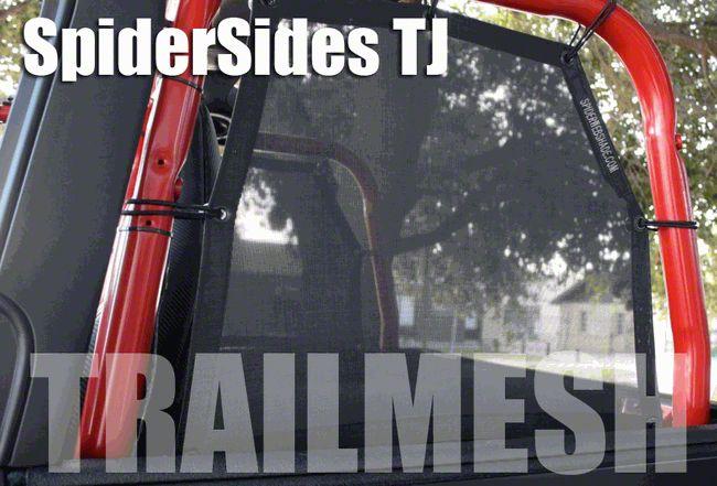 SpiderWeb Shade Trail Mesh SpiderSides - Black (97-06 Jeep Wrangler TJ)