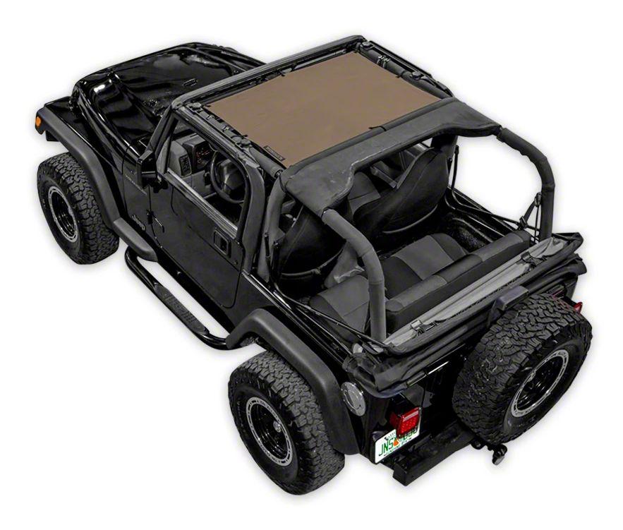 SpiderWeb Shade TJini Trail Mesh Bikini Top - Tan (97-06 Jeep Wrangler TJ)