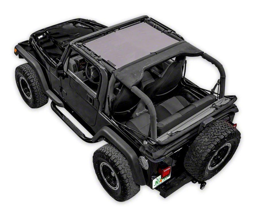 SpiderWeb Shade TJini Trail Mesh Bikini Top - Gray (97-06 Jeep Wrangler TJ)