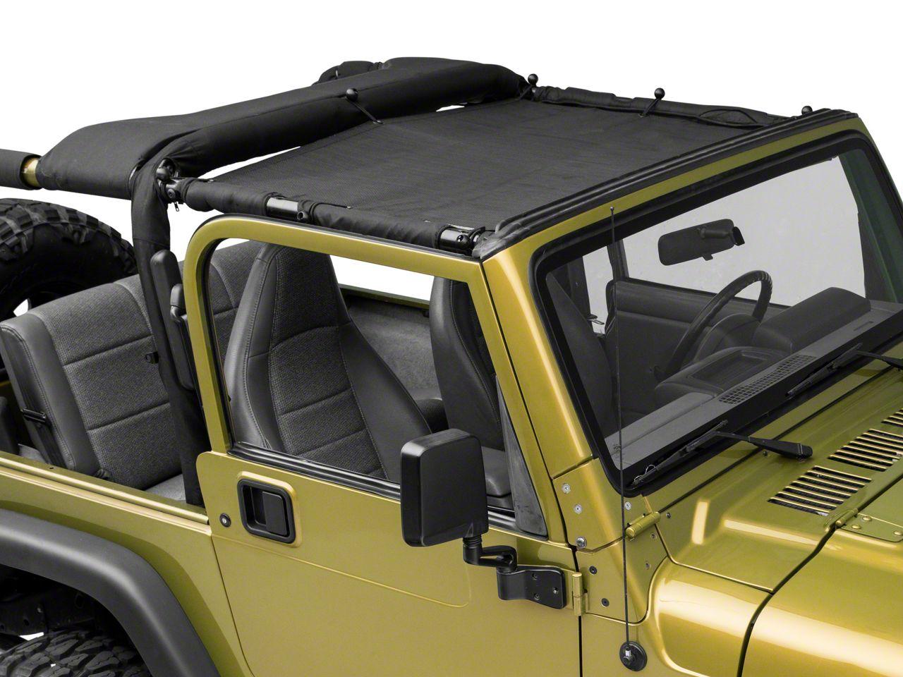 SpiderWeb Shade TJini Trail Mesh Bikini Top - Black (97-06 Jeep Wrangler TJ)
