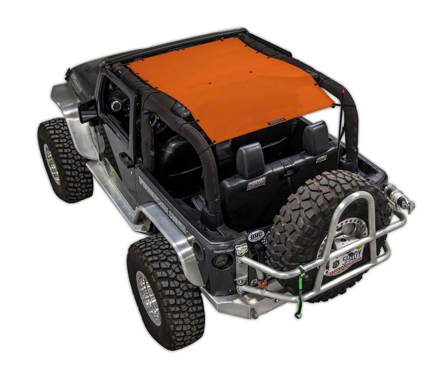SpiderWeb Shade Trail Mesh ShadeTop - Orange (07-18 Jeep Wrangler JK 2 Door)