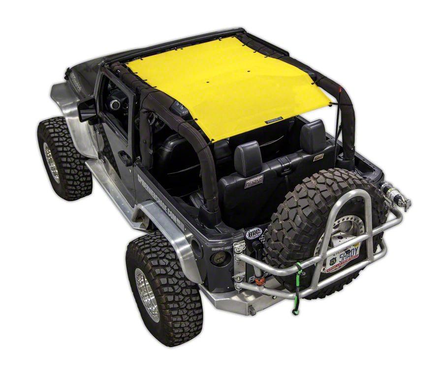 SpiderWeb Shade Trail Mesh ShadeTop - Yellow (07-18 Jeep Wrangler JK 2 Door)