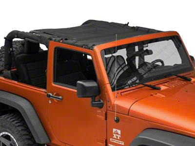 SpiderWeb Shade Trail Mesh ShadeTop - Black (07-18 Jeep Wrangler JK 2 Door)