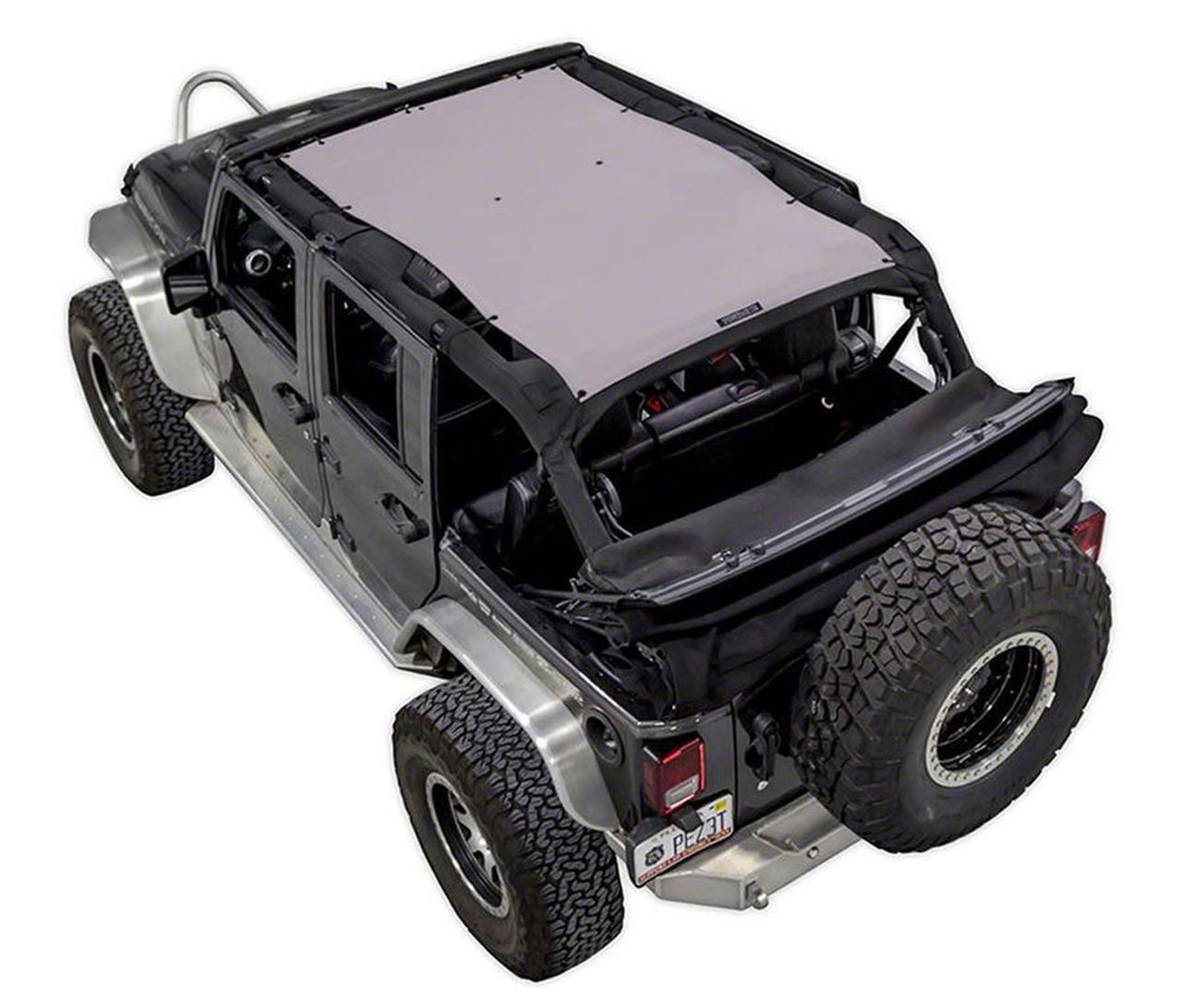 SpiderWeb Shade Trail Mesh ShadeTop - Gray (07-18 Jeep Wrangler JK 4 Door)