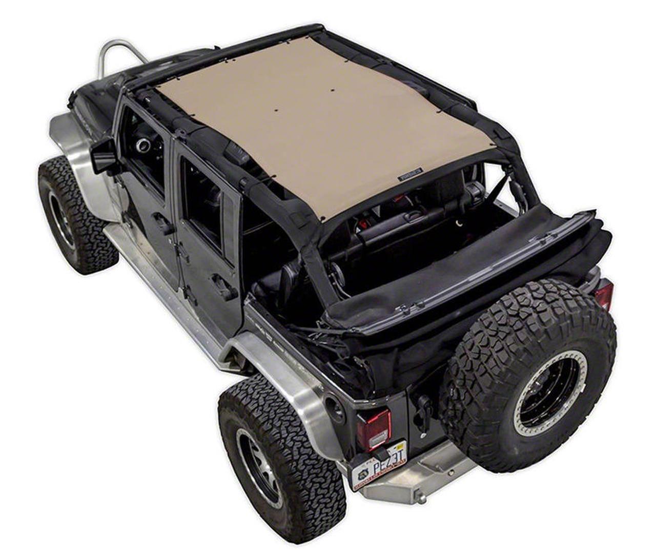 SpiderWeb Shade Trail Mesh ShadeTop - Tan (07-18 Jeep Wrangler JK 4 Door)