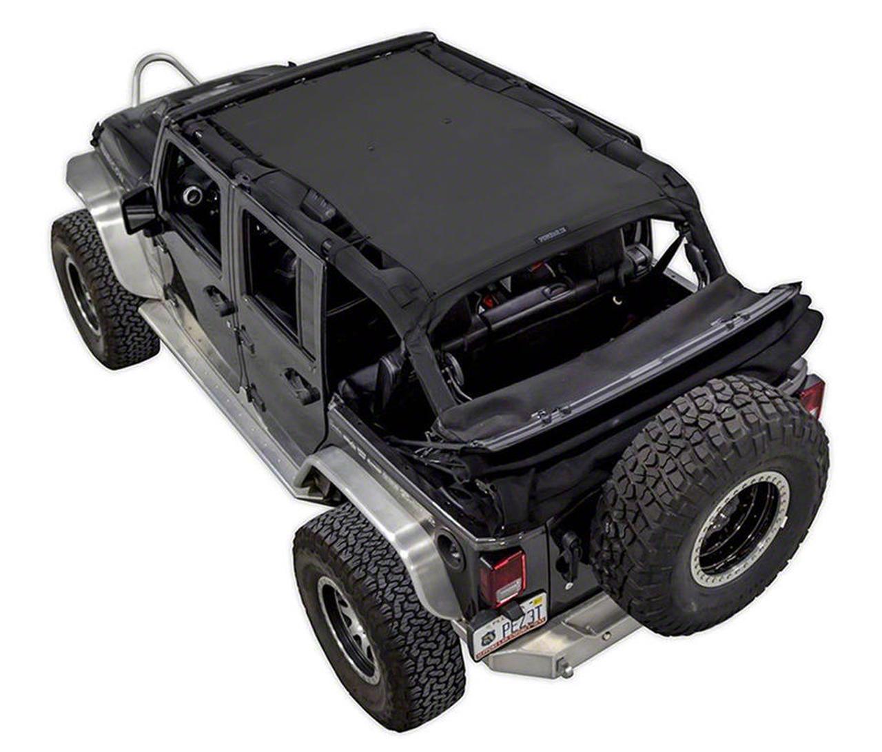 SpiderWeb Shade Trail Mesh ShadeTop - Black (07-18 Jeep Wrangler JK 4 Door)
