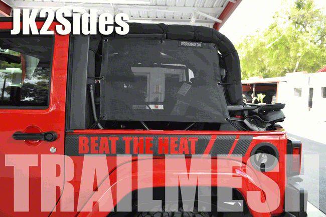 SpiderWeb Shade Trail Mesh SpiderSides - Gray (07-18 Jeep Wrangler JK)