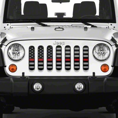 Dirty Acres Grille Insert - American Tactical Back the Red (07-18 Jeep Wrangler JK)
