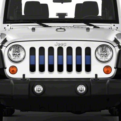 Dirty Acres Grille Insert - Black the Blue (07-18 Jeep Wrangler JK)