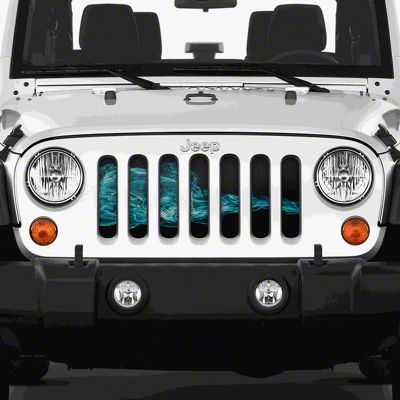 Dirty Acres Grille Insert - Blue Smoke (97-06 Jeep Wrangler TJ)