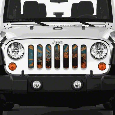 Dirty Acres Grille Insert - Cali (07-18 Jeep Wrangler JK)