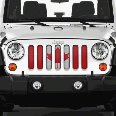 Dirty Acres Grille Insert - Canada, Eh (07-18 Jeep Wrangler JK)