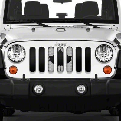 Dirty Acres Grille Insert - Canadian Black & White (07-18 Jeep Wrangler JK)