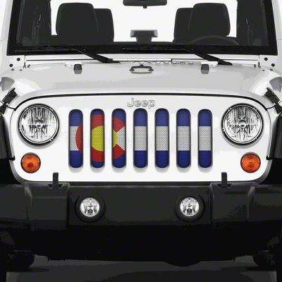 Dirty Acres Grille Insert - Colorado State Flag (07-18 Jeep Wrangler JK)