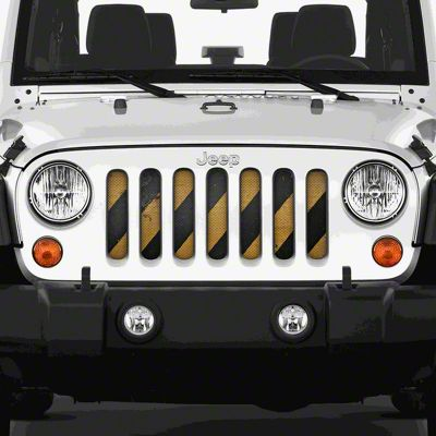 Dirty Acres Grille Insert - Cross Walk (07-18 Jeep Wrangler JK)