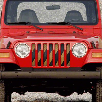 Dirty Acres Grille Insert - Cross Walk (97-06 Jeep Wrangler TJ)