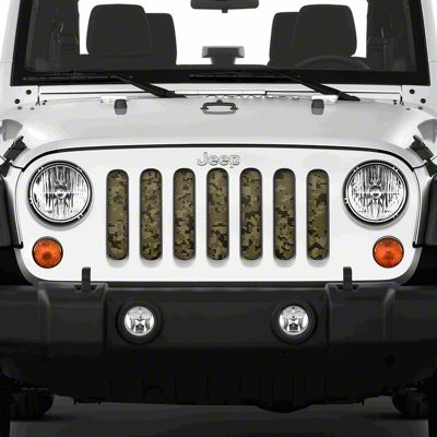 Dirty Acres Grille Insert - Digital Tan Camo (07-18 Jeep Wrangler JK)