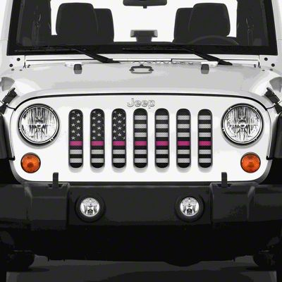 Dirty Acres Grille Insert - Fight (07-18 Jeep Wrangler JK)