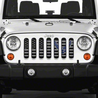 Dirty Acres Grille Insert - Fly High Air Force (07-18 Jeep Wrangler JK)