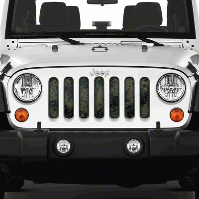 Dirty Acres Grille Insert - Green Tactical Camo (07-18 Jeep Wrangler JK)