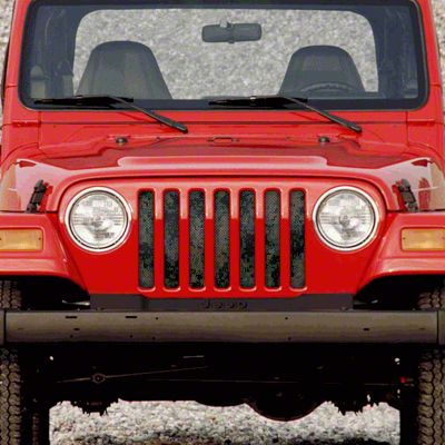Dirty Acres Grille Insert - Green Tactical Camo (97-06 Jeep Wrangler TJ)
