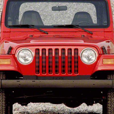 Dirty Acres Grille Insert - Lumberjack (97-06 Jeep Wrangler TJ)