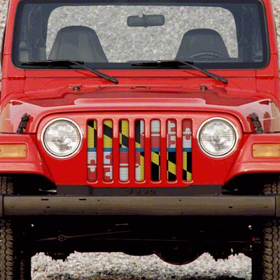 Dirty Acres Grille Insert - Maryland Back the Blue (97-06 Jeep Wrangler TJ)