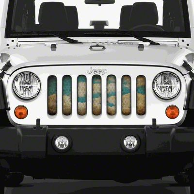 Dirty Acres Grille Insert - Michelangelo (07-18 Jeep Wrangler JK)