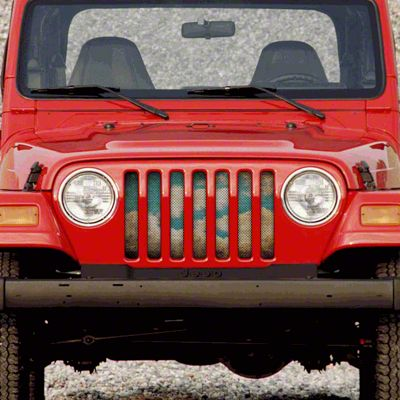 Dirty Acres Grille Insert - Michelangelo (97-06 Jeep Wrangler TJ)