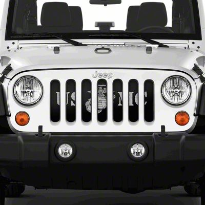Dirty Acres Grille Insert - Motivated USMC (07-18 Jeep Wrangler JK)