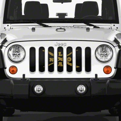 Dirty Acres Grille Insert - New Orleans (07-18 Jeep Wrangler JK)
