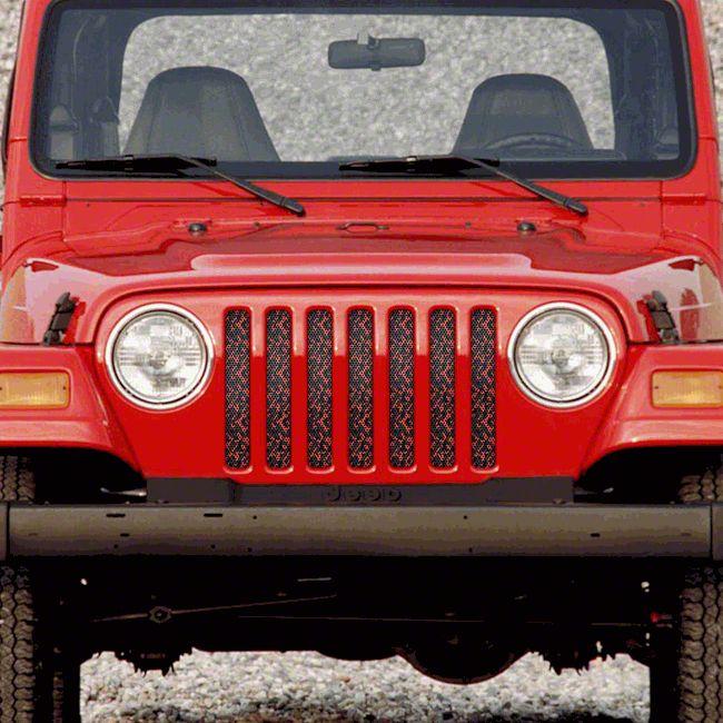 Dirty Acres Grille Insert - Orange Camo (97-06 Jeep Wrangler TJ)