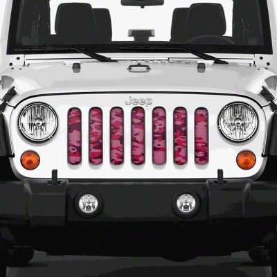 Dirty Acres Grille Insert - Pink Out Camo (07-18 Jeep Wrangler JK)