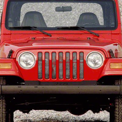 Dirty Acres Grille Insert - Splatter Red Paint (97-06 Jeep Wrangler TJ)