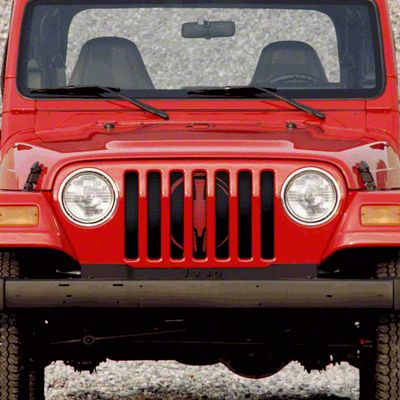 Dirty Acres Grille Insert - Red Warrior (97-06 Jeep Wrangler TJ)