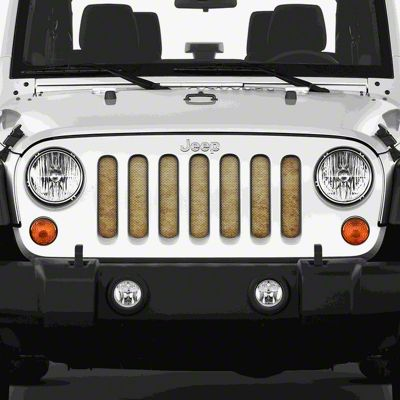Dirty Acres Grille Insert - Sandy Skies (07-18 Jeep Wrangler JK)