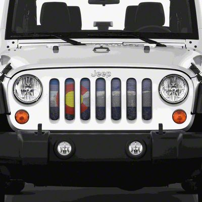 Dirty Acres Grille Insert - Colorado Scenic (07-18 Jeep Wrangler JK)