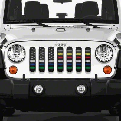 Dirty Acres Grille Insert - Six for the Six (07-18 Jeep Wrangler JK)