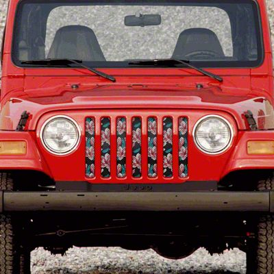 Dirty Acres Grille Insert - Summer Breeze (97-06 Jeep Wrangler TJ)