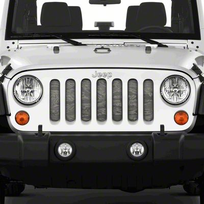Dirty Acres Grille Insert - Air Force Tiger Stripe (07-18 Jeep Wrangler JK)