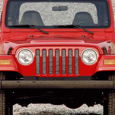 Dirty Acres Grille Insert - Air Force Tiger Stripe (97-06 Jeep Wrangler TJ)