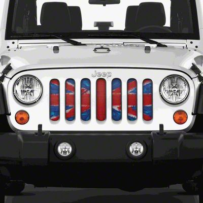 Dirty Acres Grille Insert - Union Jack (97-06 Jeep Wrangler TJ)