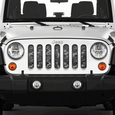 Dirty Acres Grille Insert - Urban Camo (07-18 Jeep Wrangler JK)