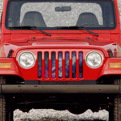 Dirty Acres Grille Insert - Waa Waa White Space (97-06 Jeep Wrangler TJ)