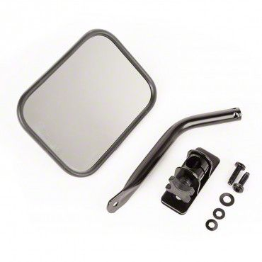 Outland Quick Release Rectangular Mirror - Black (97-18 Jeep Wrangler TJ & JK)