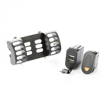 Outland AC Vent Switch Pod w/ Rocker Switch & Dual USB Connector (97-06 Jeep Wrangler TJ)