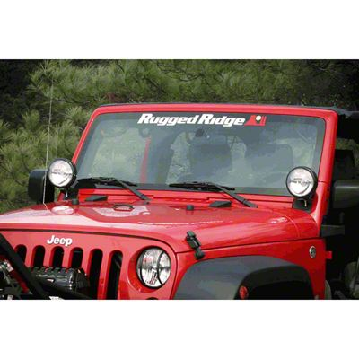 Rugged Ridge Windshield Banner (87-18 Jeep Wrangler YJ, TJ, JK & JL)