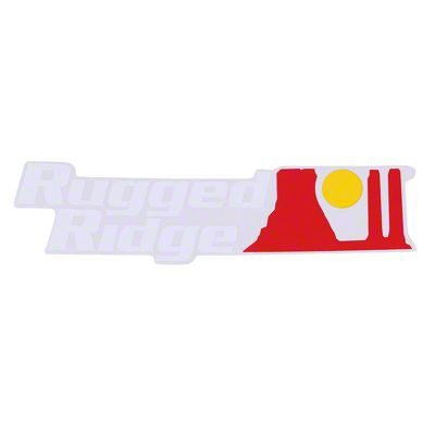 Rugged Ridge Decal - White