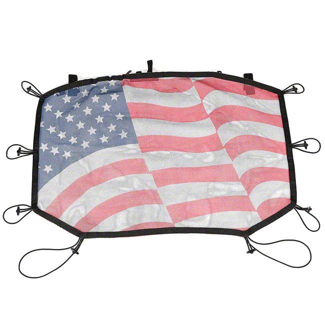 Rugged Ridge Hard Top Sun Shade - American Flag (07-18 Jeep Wrangler JK)