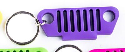 TJ Grille Rubber Keychain - Purple